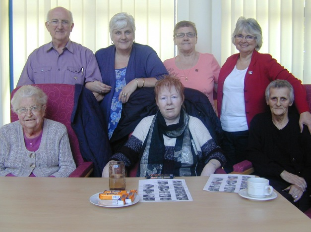 Pictured above, clockwise from bottom left, Mair Rees, patient from Gorseinon; Roy Gambold, Volunteer; Veronica Ford, day centre patient from Plasmarl; Mary Horne, day centre patient from Morriston; Carol Williams, volunteer; Ruby Ellis, day centre patient from Morriston; Kay Heaven, day centre patient from Townhill.